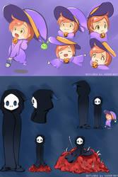2015 Halloween Character Designs by Vichip-Art