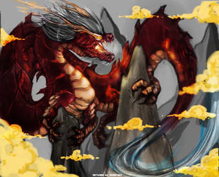 Dragon Painting Exercise by Vichip-Art