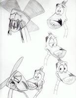Fannah and Lampy sketchdump by BobcatAngel