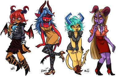 Demon ladies by Fataldose