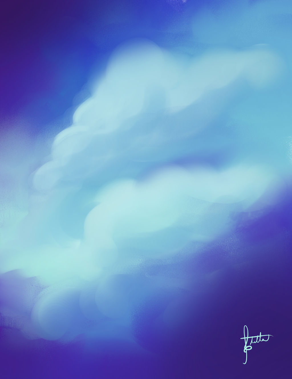 Clouds of Purple by Elvann