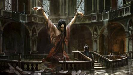 Dark Souls 2 Caitha's concept art by Tarakanovich