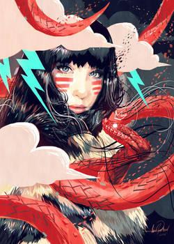 Eskimo Snake Girl by javierGpacheco