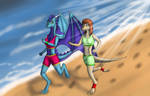 Joging at beach (commision) by Tomek1000