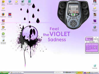 Feel the violet sadness by yonutz