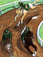 Junior test race - Growl-Tiger's Shedus by TheKunterbunter