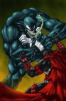 Venom VS Spawn by BESTrrr