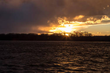 Mississippi Sunset Stock 02 by dknucklesstock
