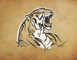 Yawning Tiger by fiftypatoots