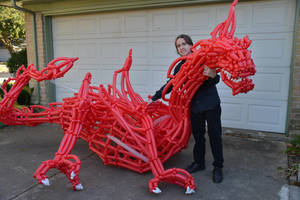 Smaug the Magnificent Balloon Sculpture 2 by DJdrummer