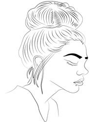 LineArt - Chica/Retrato by TurbidMeteor