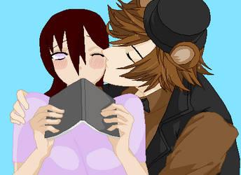 Fredddy Fazbear and Valora Belle Lori Valentine by animefan71