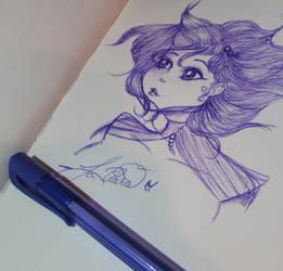 Pen Challenge - Here I am by Princess-Kawaii-Kari