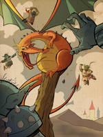 Strategicon Dragon Battle by DaveBardin