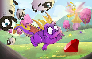 Spyro the Dragon by DaveBardin