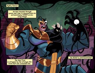 Thanos Consumed by DaveBardin