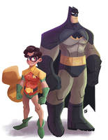 Batman and Robin by DaveBardin
