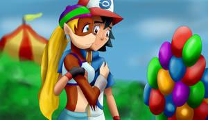 Tiny Kong and Ash 2 by Riadorana
