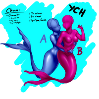 Cheeky Mermaids - YCH Auction by Mtotheartin