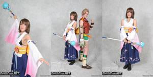 Summoner Yuna + Rikku Cosplay by hiyoko-chan