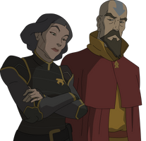 Lin and Tenzin by sircinnamon