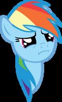 Rainbow Dash's WTF Face by sircinnamon