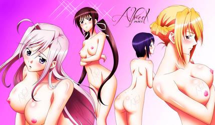 Charlotte, Seika, Yuu, Sylvia - Princess Lover! by Elunico560
