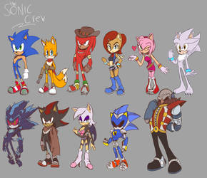 THE SONIC CREW by JamoART