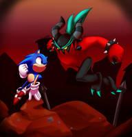 Classic Sonic VS Zavok The Zeti by JamoART