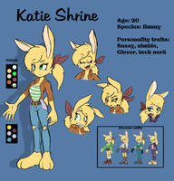 Katie Shrine - Character reference by JamoART