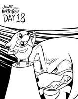 INKTOBER 2018 DAY 18: Knuckles by JamoART