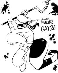 INKTOBER 2018 DAY: 26 Sly Cooper by JamoART