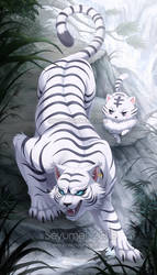 Com: Kohaku the White Tiger by Seyumei