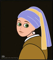 Kim with a Pearl Earring by JNLN