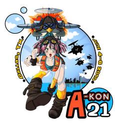 A-kon 21 T-shirt submission by Pinkasauruz