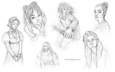 Doodles I by RocioRodriguez