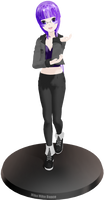 MMD DL OC Newcomer: Murasaki Hana by Ame-Yuki