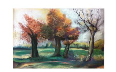 Landscape in soft pastel by zandrasandoval