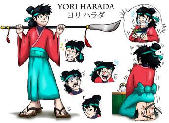 CM: Yori Harada Ref Sheet by Shadow-Aspect