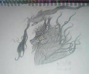 magic wolf fire by Joy-K-A by joy-K-A