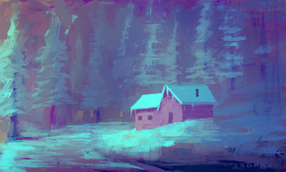 Snow Sketch by LSDrake