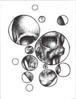 Bubble Skull by StarrStruck9124