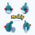 Crochet Chibi Mudkip Phone Strap by RKay-x