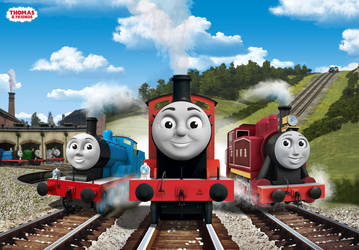 Red Engines and Shed Trouble Poster by The-ARC-Minister