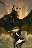 Eowyn and Nazgul by ImmarArt