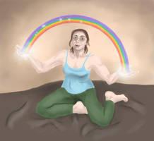 Draw Everything June II - Rainbow by PhoenixShaman