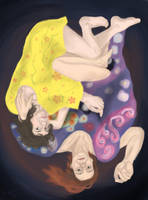 Draw Everything June II - Klimt Maidens by PhoenixShaman