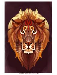panthera leo by Kipine