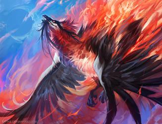 Bearded Phoenix by Kipine