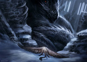 The Black Dragon of Iakahr by Kipine